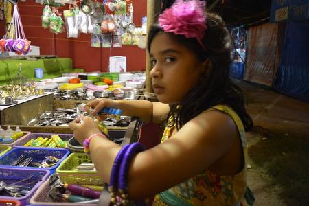 Girl in fair 2016, Kolkata, India.
