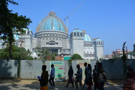 Mayapur, Nabadwip, Nadia, West Bengal. ISKCON temple and daily life of birthplace of Chaitanya Mahaparabhu. Shot on 28 December 2017. Editorial