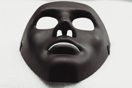 black mask: Black mask for Halloween day on white background