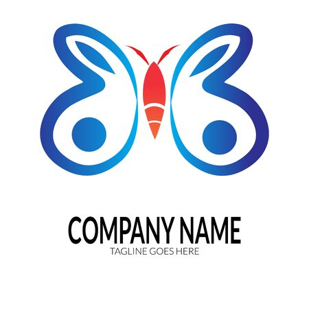 colorful butterfly logo web icon design, butterfly vector template with a simple but elegant concept. suitable for business, company and others activities