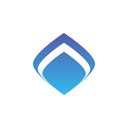 blue fire simple logo vector illustration Vettoriali