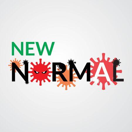 new normal concept vector illustration. designed to show risks that must be faced Vektoros illusztráció