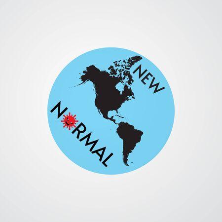 american new normal concept after coronavirus disease vector illustration