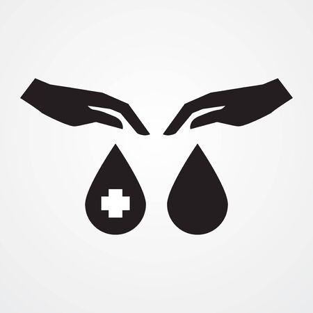 blood donor logo vector illustration