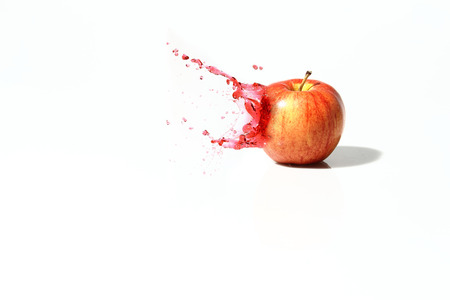 Splash apple Stock Photo