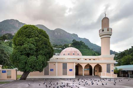 Victoria, Seychelles - February 3th, 2019: The Victoria Mosque in Victoria, Seychelles. Editöryel