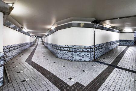 Interior of an underground pedestrian walkway, located on the Prefectural road 60 inKanazawa, Ishikawa, Japan.