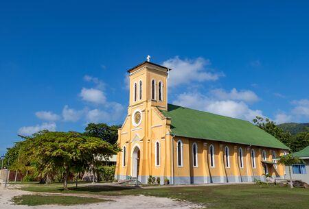 The Notre Dame de L'Assomption church in La Digue, Seychelles.