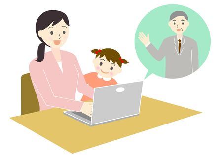 Teleworking Mothers and Children