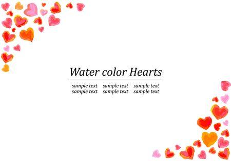 Watercolor Heart Frame Illusztráció