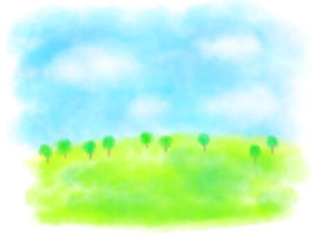 sky and grass color illustration