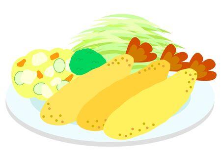 Illustration of shrimp  イラスト・ベクター素材