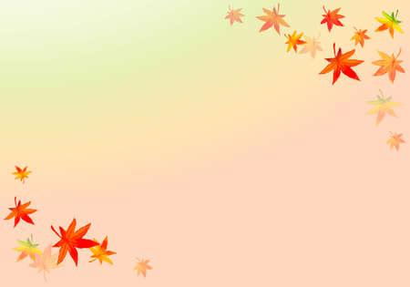 Circular frame illustration of watercolor leaves
