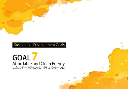 SDGs Goal 7 Specified Color (with Swatch) Abstract Watercolor Background