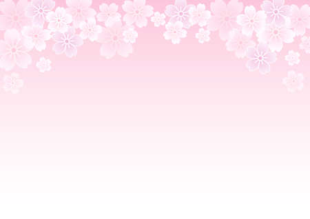 Japanese-style cherry blossom background illustration Illustration