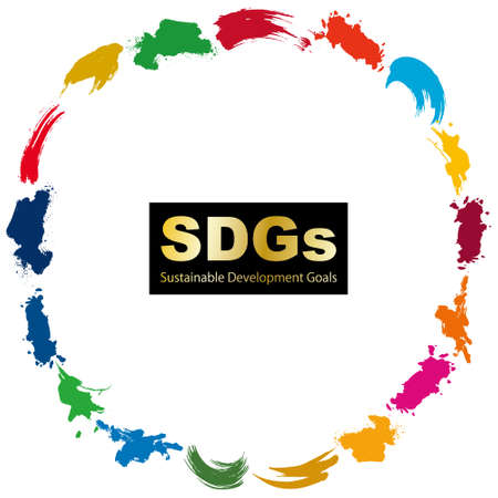 SDGs CMYK Specified Color (with Swatch) Circle Frame