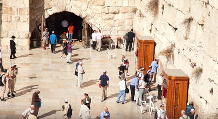 JERUSALEM - NOVEMBER 8: People pray at the Western Wall on Nov. 8, 2010 in Jerusalem, Israel.