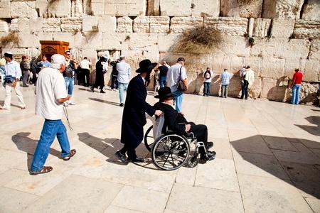 JERUSALEM - NOVEMBER 8: People pray at the Western Wall on Nov. 8, 2010 in Jerusalem, Israel. Stock Photo - 8321778