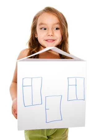 Girl dreams of a new home photo