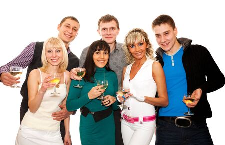 Group of friends at a party Stock Photo - 8537793