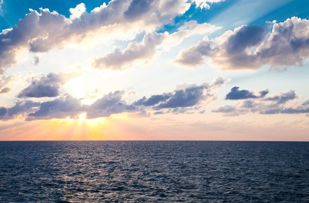 time lapse: sunset at sea Stock Photo