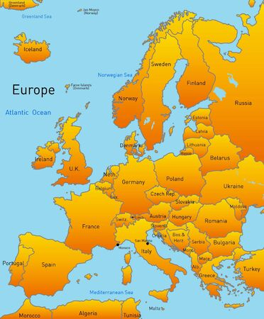 Abstract map of europe continent Stock Photo - 3375998
