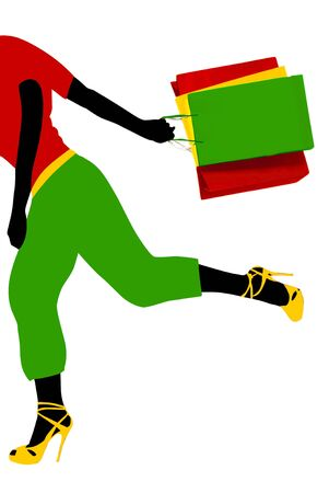 Running girl Stock Photo - 3375883