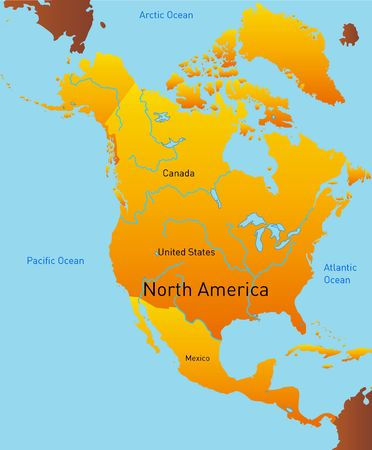 Abstract map of north america continent photo