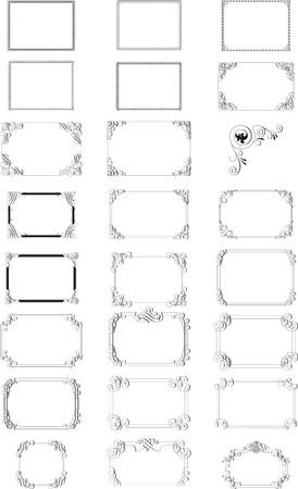 Abstract vector frames black Stock Vector - 3381638