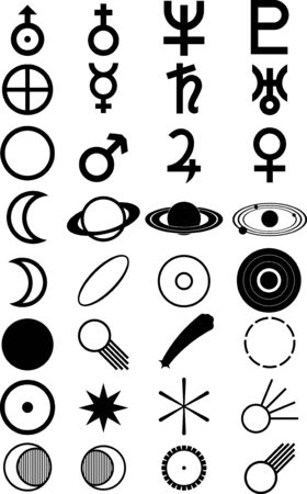 Abstract vector astronomic shapes black Stock Vector - 3381633