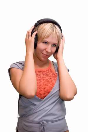 Teen girl listening to music Stock Photo - 3397749