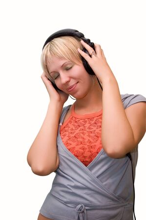 Teen girl listening to music Stock Photo - 3397750