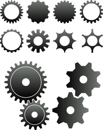 tandwielen: 2D abstracte kunst vector illustratie. Tandwielen