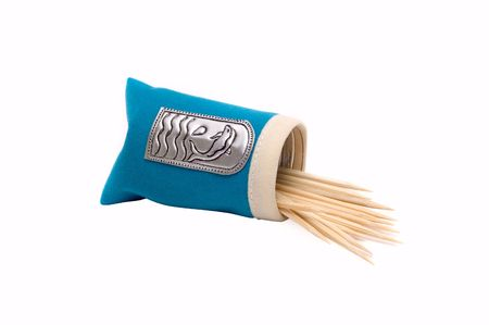 Packet with toothpicks on white background Stock Photo - 3453979