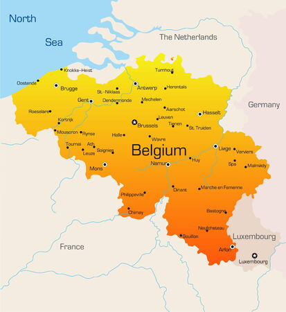 Abstract vector color map of Belgium country  Stock Vector - 3462312