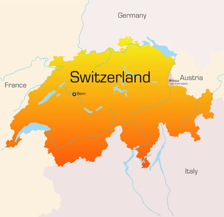 Abstract vector color map of Switzerland country Stock Vector - 3462319