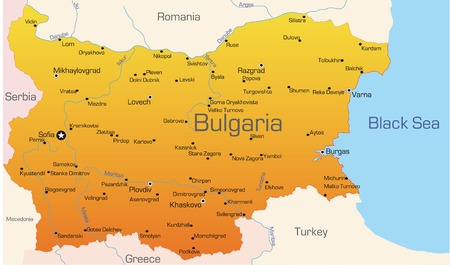 Abstract vector color map of Bulgaria country  Vector