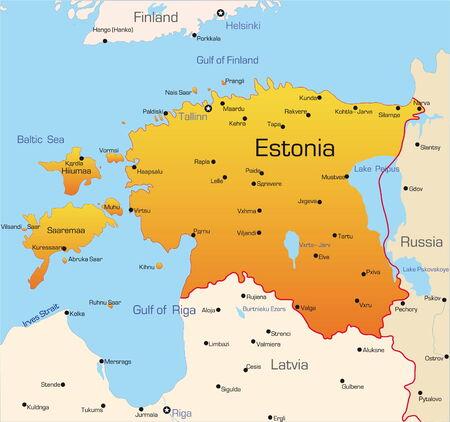 Abstract vector color map of Estonia country Stock Vector - 3479340