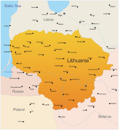 Abstract vector color map of Lithuania country  Vector