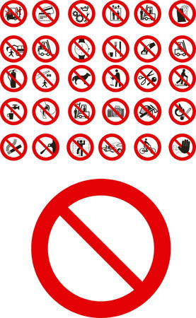 Abstracy vector public  prohibited signs Stock Vector - 3483322