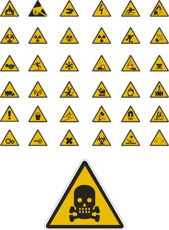 signos de precaucion: Resumen vector de alerta y se�ales de seguridad
