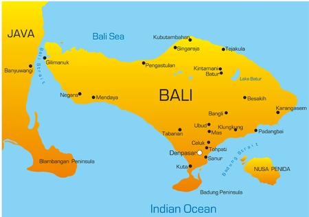 south east: Vector map of Bali country