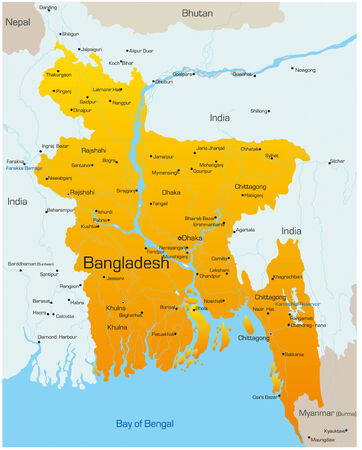 bangladesh: Vector map of Bangladesh country