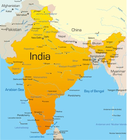 Vector map of India country Vector