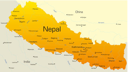 Vector map of Nepal country Vector