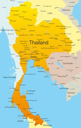Vector map of Thailand country Vector
