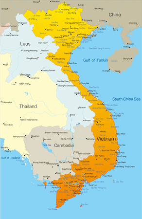 Vector map of Vietnam country Vector