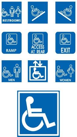 Vector blue signes - invalid - blanc Vecteurs