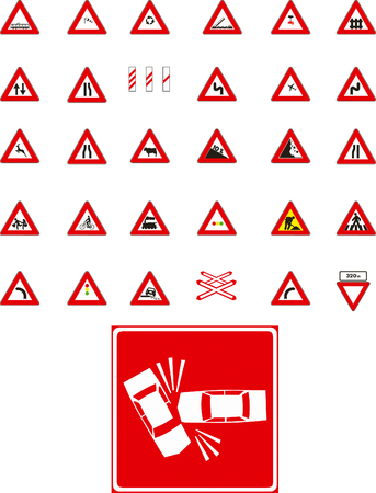 Vector traffic signs on white background Stock Vector - 3524619