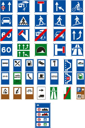 Vector traffic signs on white background Vector